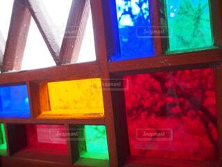 教会のステンドグラスの写真・画像素材[1532514]