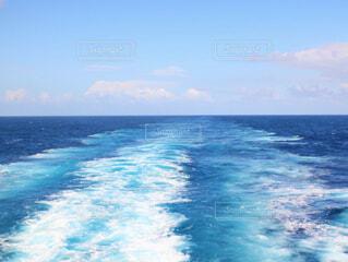 船内デッキからの景色の写真・画像素材[1537314]