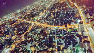 都会の中の夜景の写真・画像素材[1534108]