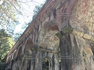 水路閣のレンガアーチの写真・画像素材[1533140]