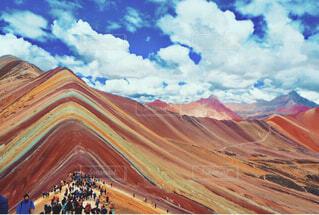 ペルーのレインボーマウンテンの写真・画像素材[1536940]