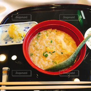 鍋の〆は雑炊の写真・画像素材[1806113]