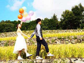 棚田wedding photoの写真・画像素材[1541371]
