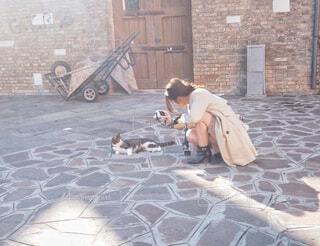 猫さまと私の写真・画像素材[1599662]