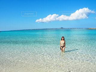 水納ビーチの写真・画像素材[1607011]