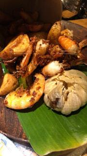 ハワイ料理のお店のガーリックシュリンプの写真・画像素材[1542555]