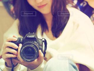 カメラ女子の写真・画像素材[1544231]