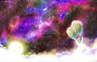 宇宙と風船の写真・画像素材[1540172]