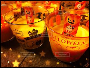 手作りかぼちゃプリンの写真・画像素材[1540494]