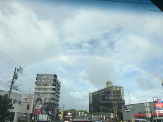 雨上がりの虹の写真・画像素材[1539911]