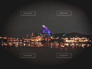 夜のディズニーシーの写真・画像素材[1544045]