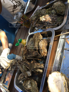 採れたて牡蠣の食べ放題の写真・画像素材[1540445]