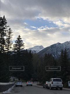 バンフの朝の風景の写真・画像素材[1540956]