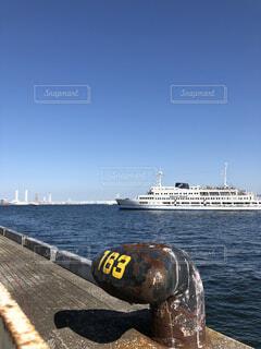 快晴の大桟橋からの写真・画像素材[1558462]