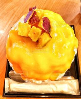 サツマイモのかき氷の写真・画像素材[1573306]