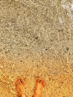 波打ち際の写真・画像素材[2713952]