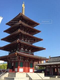 四天王寺の五重塔(*´∀`*)の写真・画像素材[1587749]