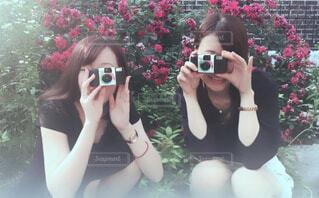 カメラ女子旅の写真・画像素材[1544402]