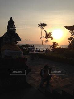 バリの夕日の写真・画像素材[1545108]