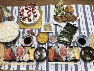 クリスマスの夕飯。の写真・画像素材[1547185]