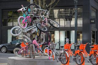 自転車アート?の写真・画像素材[1550507]