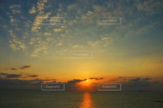大瀬戸の夕陽の写真・画像素材[1838293]