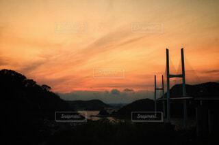 夕暮れの女神大橋(長崎)の写真・画像素材[1863980]