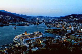 長崎港の夕暮れの写真・画像素材[1872937]