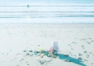 寒い砂遊びの写真・画像素材[1583748]