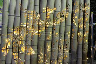 熱海梅園の竹灯籠の写真・画像素材[1552731]