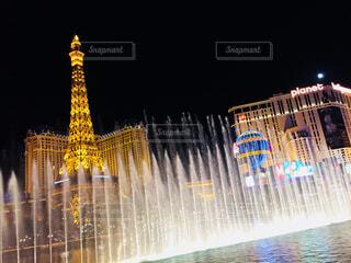 ベラッジオの噴水ショーの写真・画像素材[1557225]
