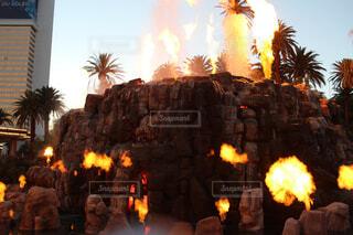 ミラージュの火山噴火ショーの写真・画像素材[1557232]