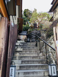 cafeまでの階段の写真・画像素材[1566095]