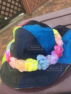 花かんむりと帽子の写真・画像素材[1566582]