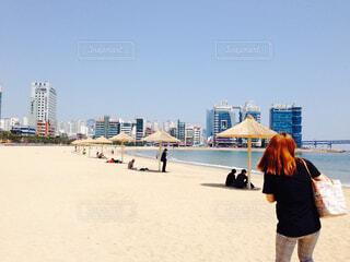砂浜でまったりの写真・画像素材[1567443]
