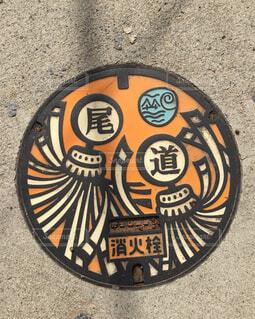 千光寺登山道にあったマンホールの写真・画像素材[1597994]