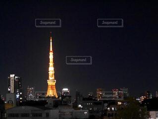 夜の東京タワーの写真・画像素材[1722016]
