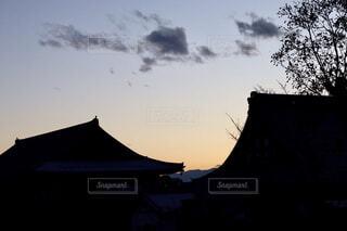 背景の夕日の写真・画像素材[1764908]