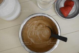 タルゴナコーヒー作りの写真・画像素材[3101893]