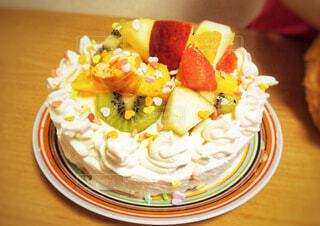 手作りフルーツケーキの写真・画像素材[1650119]