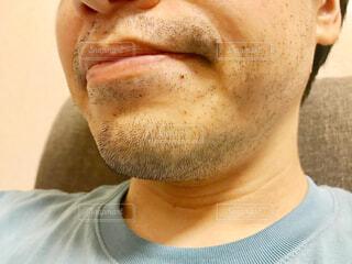 無精髭のアップの写真・画像素材[2184177]