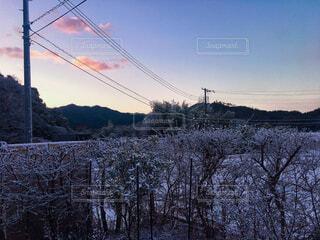 薄っすら雪化粧❄️の写真・画像素材[1694631]