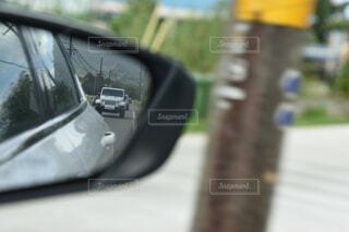 車のサイドミラー ビューの写真・画像素材[1555398]