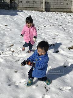 雪遊びの写真・画像素材[1558472]