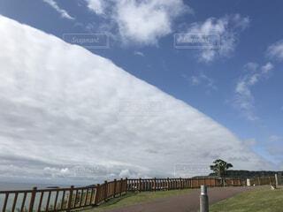 珍しい雲の写真・画像素材[2168598]