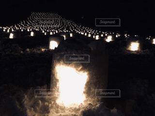 夜ライトアップ橋の写真・画像素材[1767003]