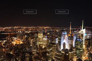 ニューヨークの夜景の写真・画像素材[1590612]