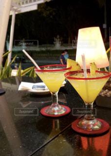 パイナップルジュースの写真・画像素材[1561970]