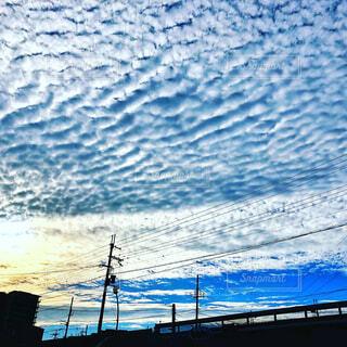 水面の様な空の写真・画像素材[1760308]