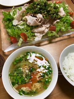 夏の日の晩御飯の写真・画像素材[1564091]